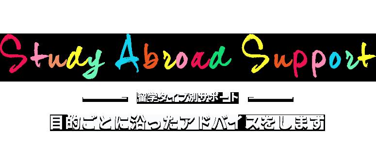 留学タイプ別サポート